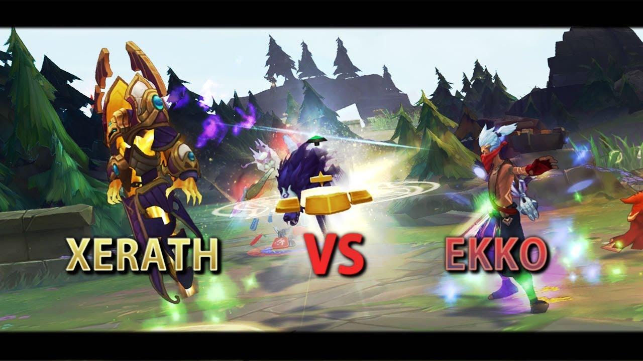 Lol Preseason 8 Xerath Vs Ekko Gameplay Sorcery And Precision