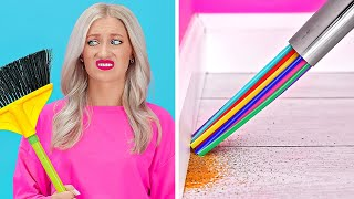 SUPER LAZY CLEANING HACKS || Crazy Cleaning Tricks For Lazy People by 123 GO!