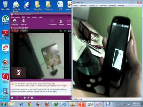 video call Motorola fire xt xt530 yahoo video call