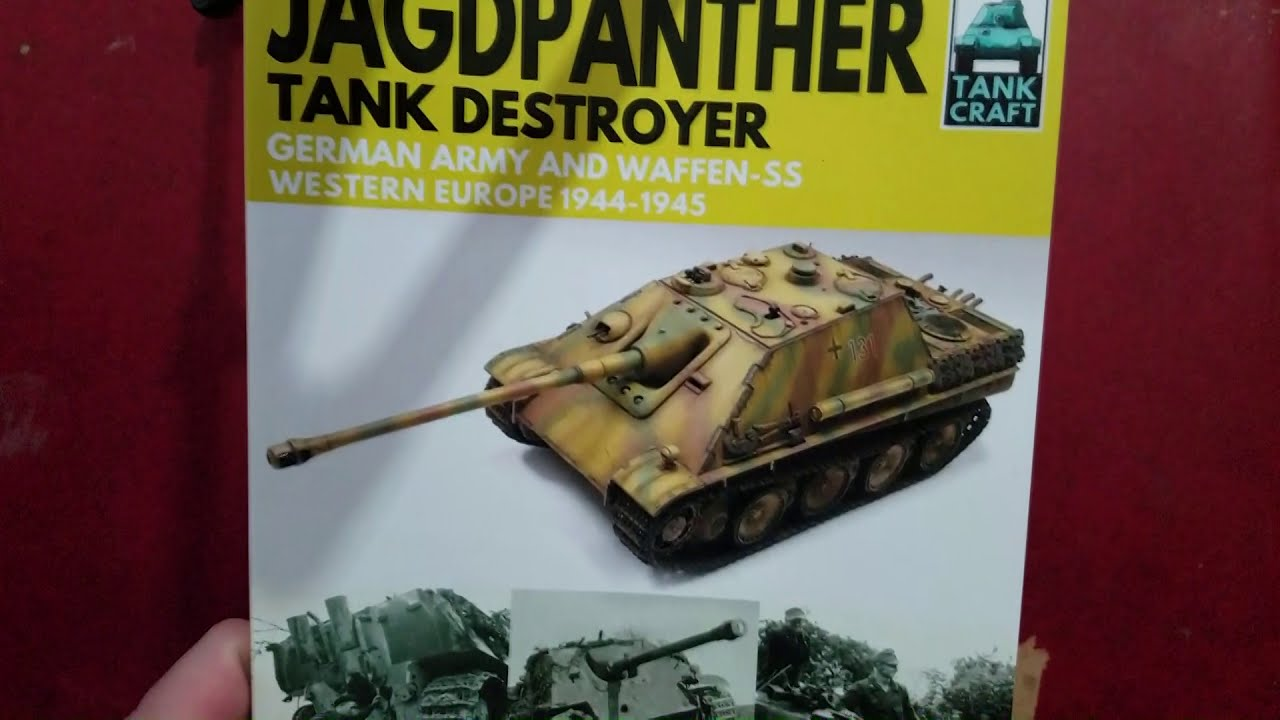 tank craft book review part 5 jagdpanther tank destroyer youtube