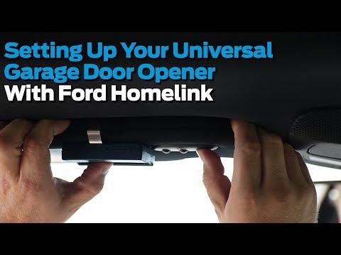 Setting up Your Homelink Universal Garage Door Opener