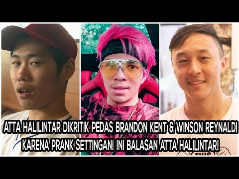 Atta Halilintar Dikritik Pedas Brandon Kent & Winson Reynaldi karena Prank Settingan! Jawaban Atta?