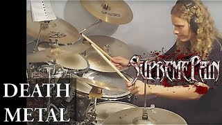Death metal drum cover - Supreme Pain - Spiritual Sickness