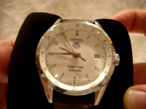 2ea352306984 Tag Heuer Carrera Twin Time GMT Watch Review - YouTube
