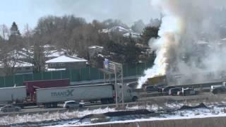 Truck Fire - Leslie & 401- Toronto, ON