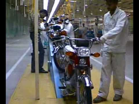 motorcycle assembly line - youtube