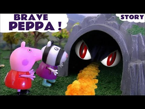 Peppa Pig Surprise Egg Hunt with Thomas and Friends Toys a Dragon Disney Frozen and Sofia The First