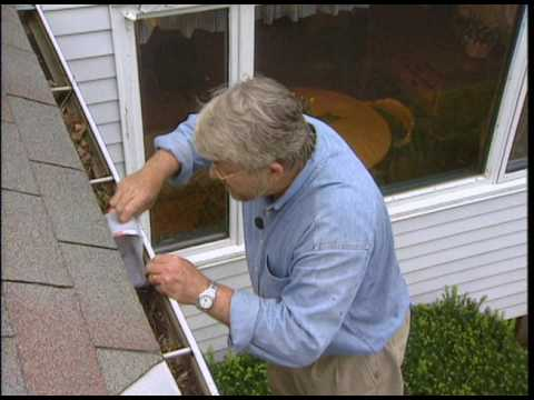 How to Clean Debris from Gutters and Downspouts - YouTube