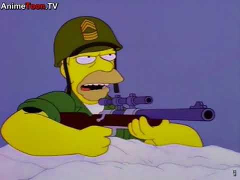 Grampa Simpson In The War