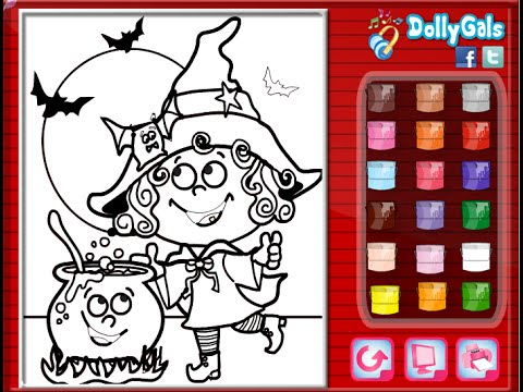Coloring Pages For Halloween Witches : Halloween witch coloring pages for kids