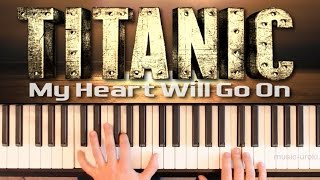 Титаник. (piano cover + ноты) My Heart Will Go On