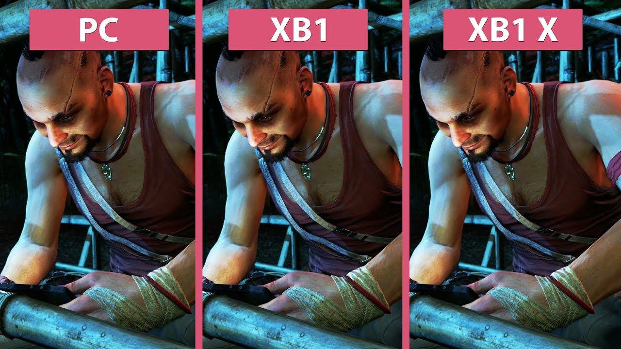 4k Far Cry 3 Pc Vs Xbox One Xbox One X Classic Edition Graphics Comparison Youtube