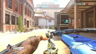 Overwatch Partie Défense. Hanzo Shimada gameplay