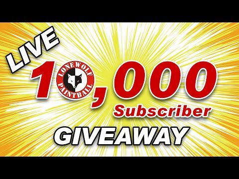 🔴 10,000 Subscriber Giveaway & NXL Chicago | Lone Wolf Paintball Weekly Live Stream 005