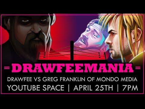DRAWFEEMANIA, LIVE! (featuring Greg Franklin of Mondo Media)