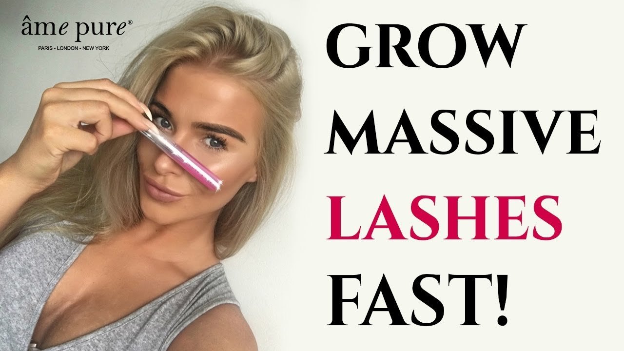 36f0457a49f How To Grow Long Eyelashes FAST! | âme pure Lash & Brows Enhancer ...