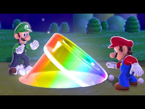 Super Mario 3D World Co-op Walkthrough - World 1 (All Green Stars & Stamps)