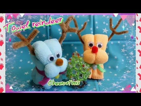 Towel reindeer tutorial ( Christmas idea)毛巾小鹿教學