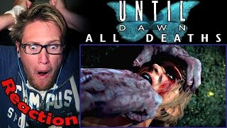 Until Dawn (All Character Deaths) REACTION! | NOT IN THE MOUTH! |