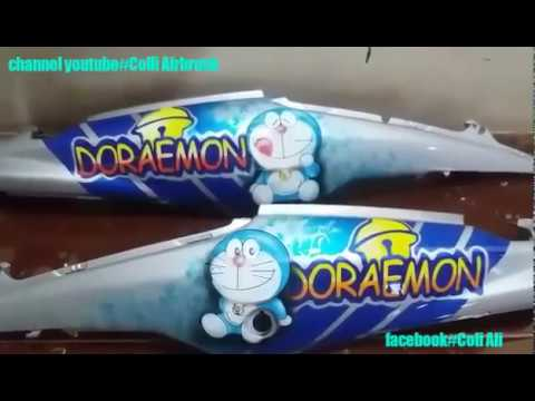 100+ Gambar Airbrush Doraemon Keren Paling Keren