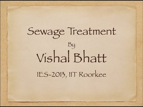 32 # Sewage Treatment | Civil Engineering | ESE | GATE | Vishal Sir | IIT Alumni | ERP