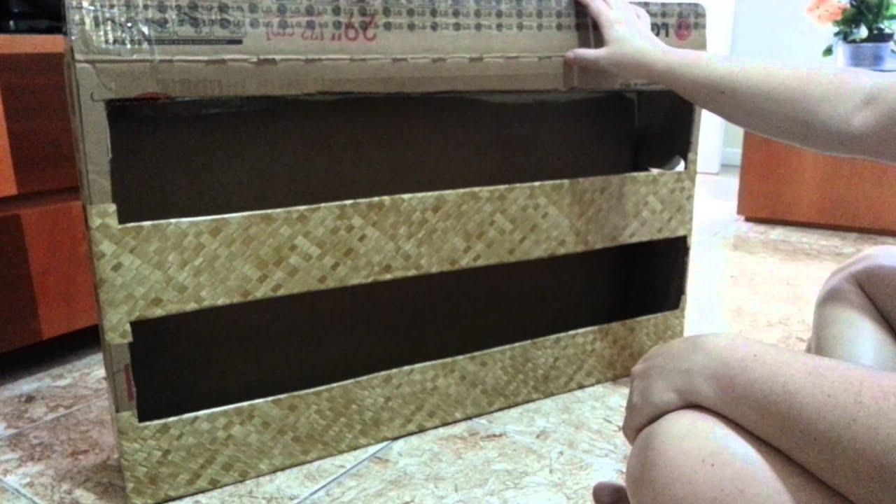 Sapateira reciclando papelão   #6F4131 1920x1080