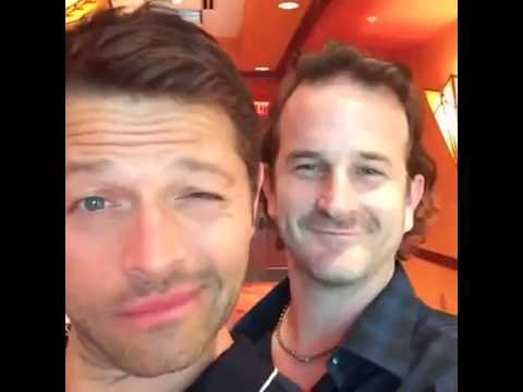 Richard Speight  with Misha Collins at GISHWHES HQ in Phoenix