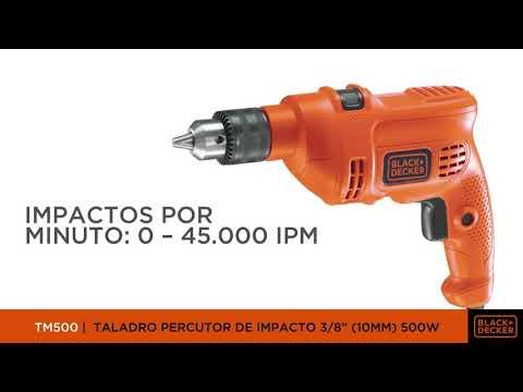 "TALADRO PERCUTOR DE IMPACTO BLACK+DECKER 3/8"" (10MM) 500W TM500"