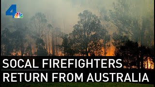 SoCal Firefighters Home From Battling Australia Wildfires  | NBCLA