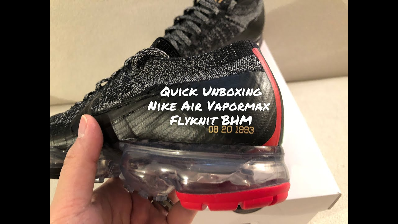 Nike Air Vapormax Flyknit BHM Unboxing SNKRS