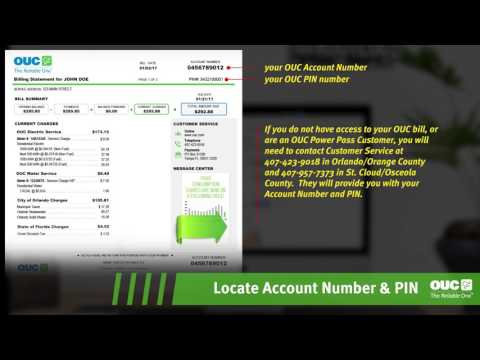 Locate Account Number And PIN