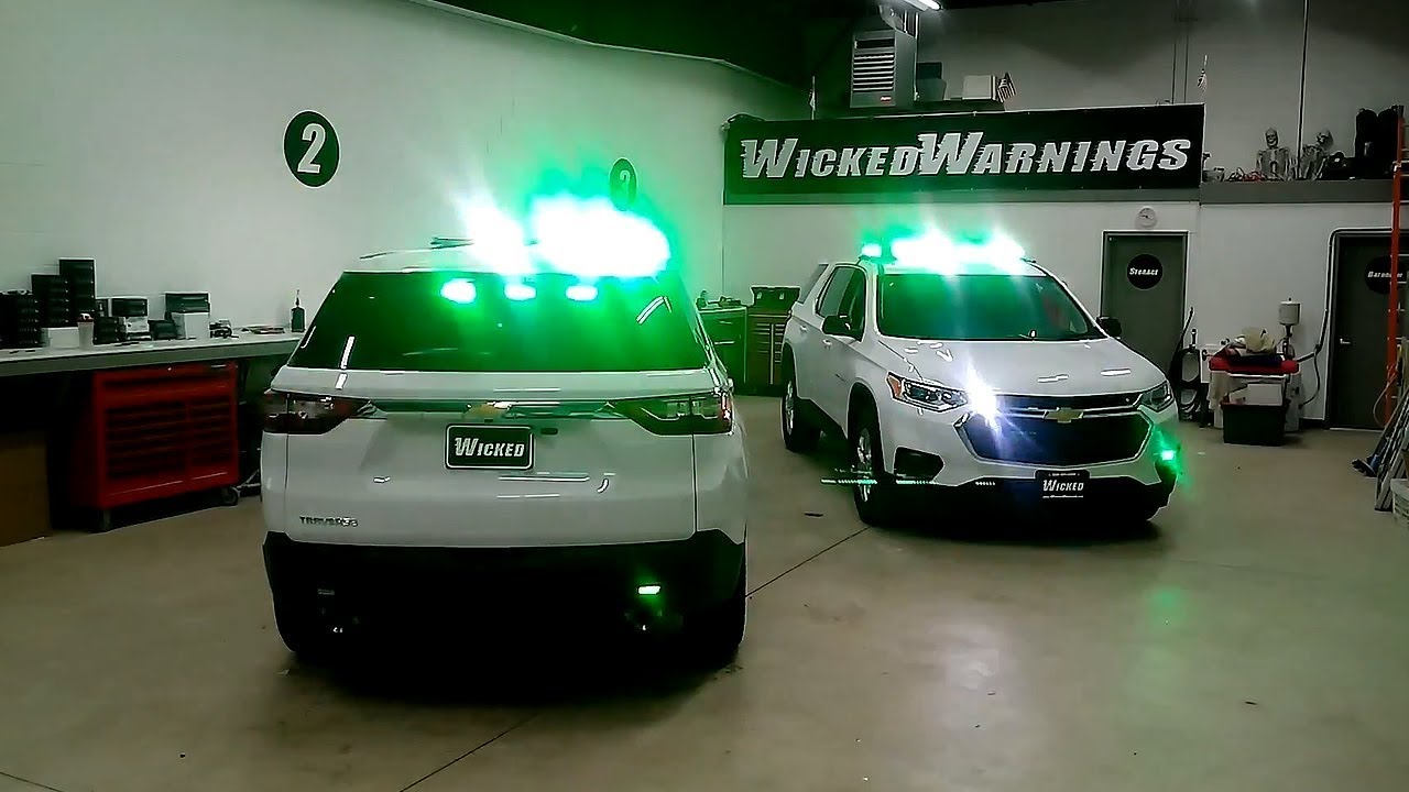 Used Chevy Traverse >> 2019 Chevy Traverse Green & White LED Light Bars and ...