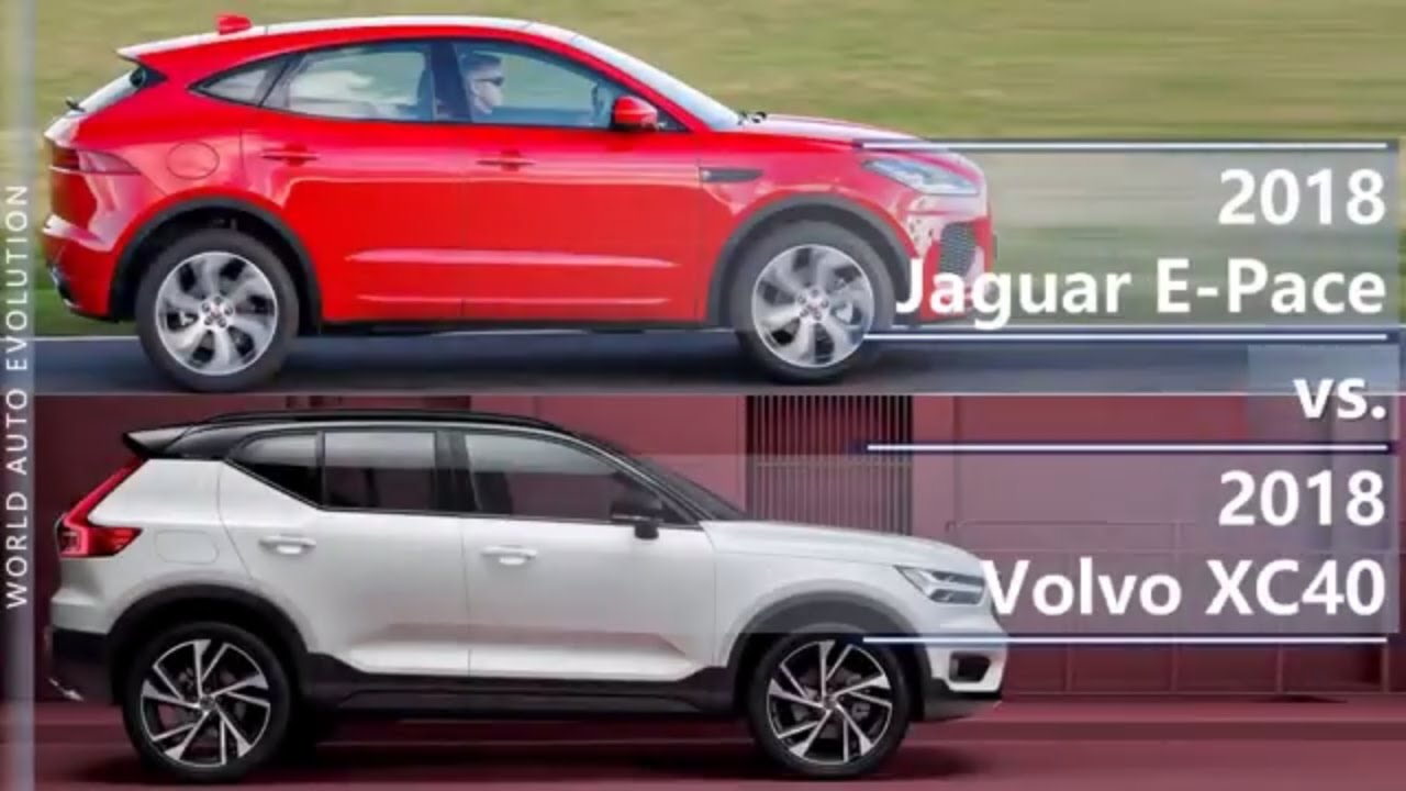 2018 jaguar e pace vs 2018 volvo xc40 technical comparison youtube. Black Bedroom Furniture Sets. Home Design Ideas