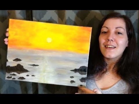 Bord De Mer Peinture Acrylique Facile Youtube