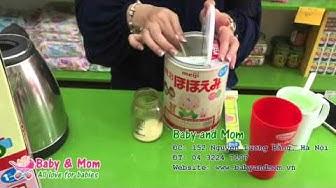 Hướng dẫn cách pha sữa Meiji số 0 Nhật Bản - Baby and Mom