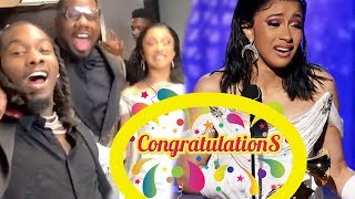 Cardi B breaks history First solo Female to win Rap Album Grammy - Ariana Grande throws shade??