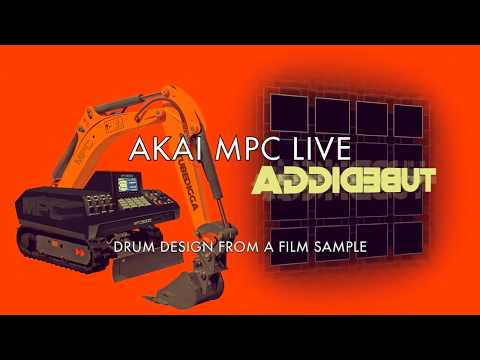 AKAI MPC LIVE: SIMPLE DRUM DESIGN USING ONE FILM SAMPLE (and maybe a kick drum)