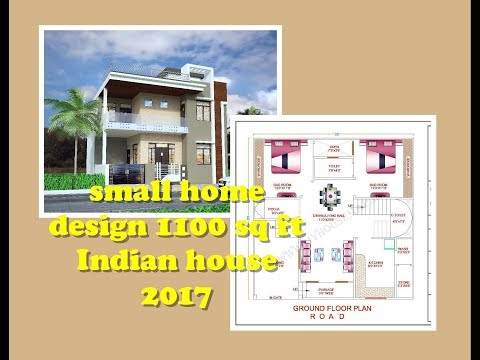 small home design 1100 sq ft | budget | color | plan | elevation | Indian house 2017