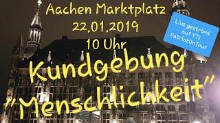 22.01.2019 Aachen - Kundgebung  Menschlichkeit