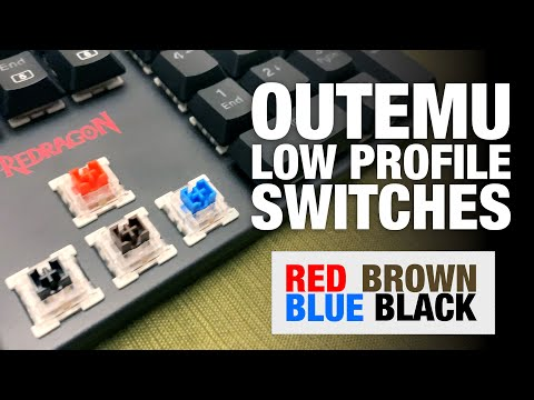 ASMR Outemu Low Profile Mechanical Switches - Best Keyboard Speed Switch for Gaming? k589