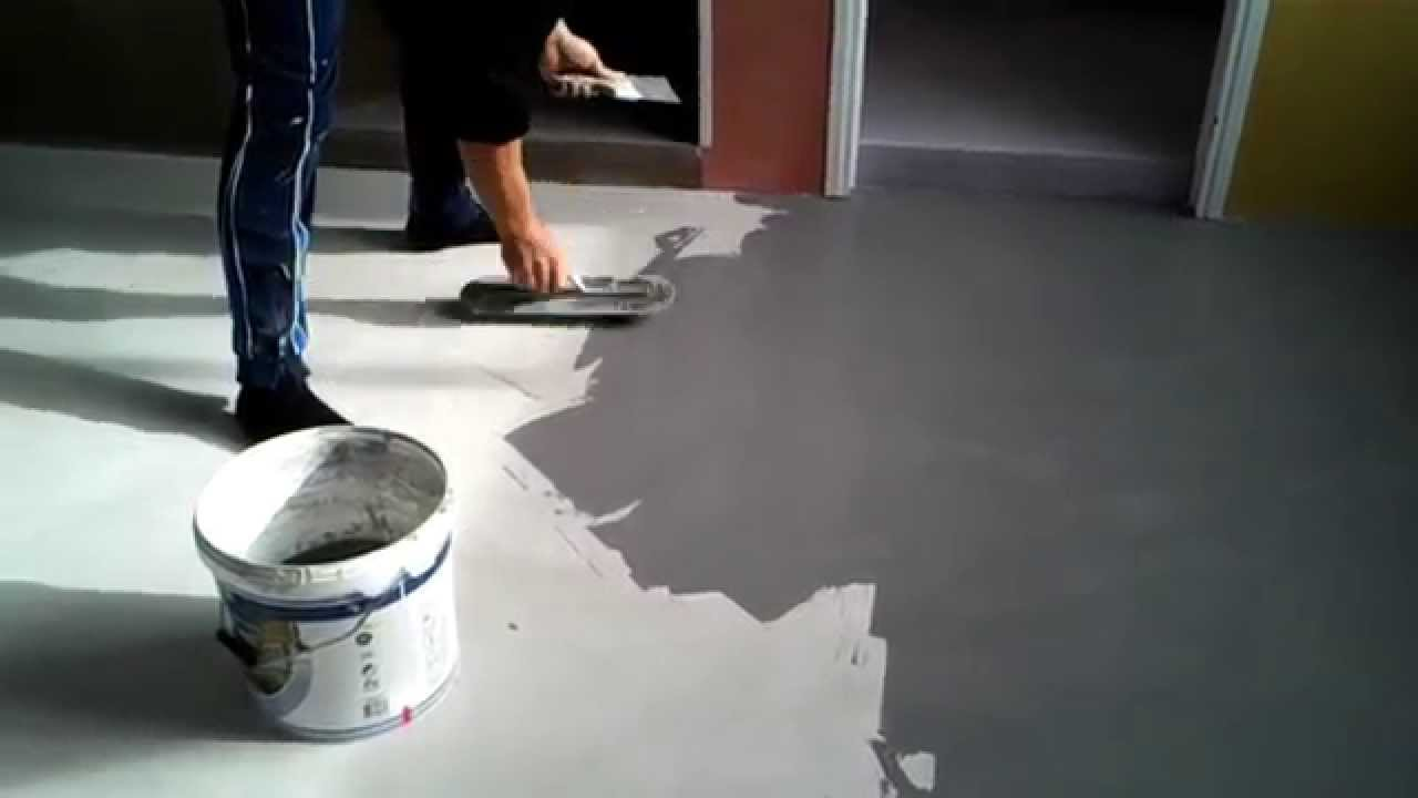 Pavimento in resina cementizia MICROTOPPING - YouTube