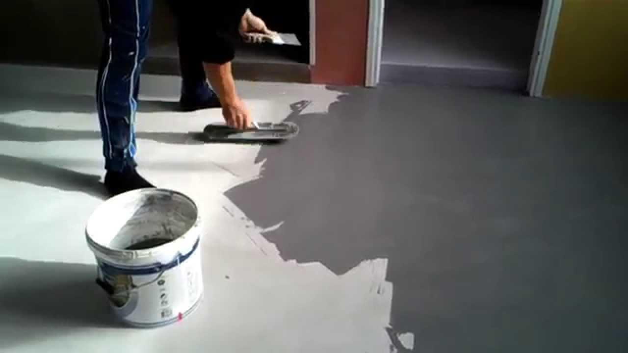 Pavimento in resina cementizia MICROTOPPING  YouTube