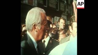 SYND 29-8-73 BRITISH PRIME MINISTER, EDWARD HEATH VISITS BELFAST