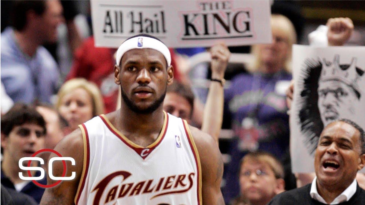 b7a3f1f4ea7c LeBron James makes his first NBA playoff appearance circa 2006 ...