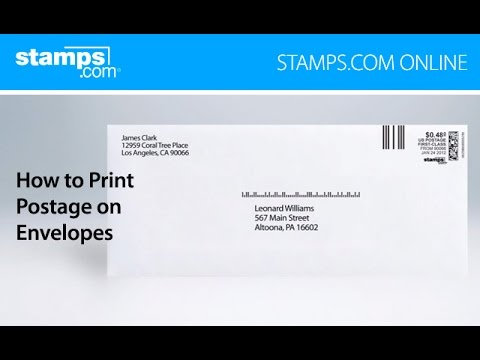 Stamps Com Online How To Print Postage On Envelopes