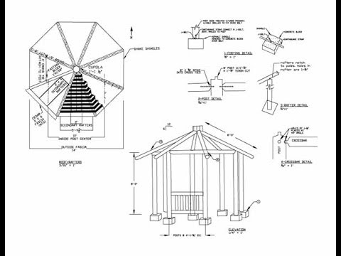 14 000 diy outdoor patio set furniture and garden gazebo for Diy architectural drawings