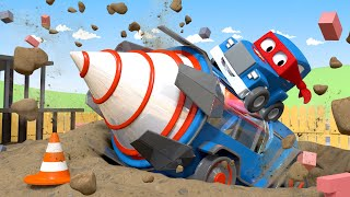 巨型钻头 - 超级卡车卡尔在汽车城 🚚 ⍟ 国语中文儿童卡通片 Car City 動畫合集 - Mandarin Truck Animation for Kids