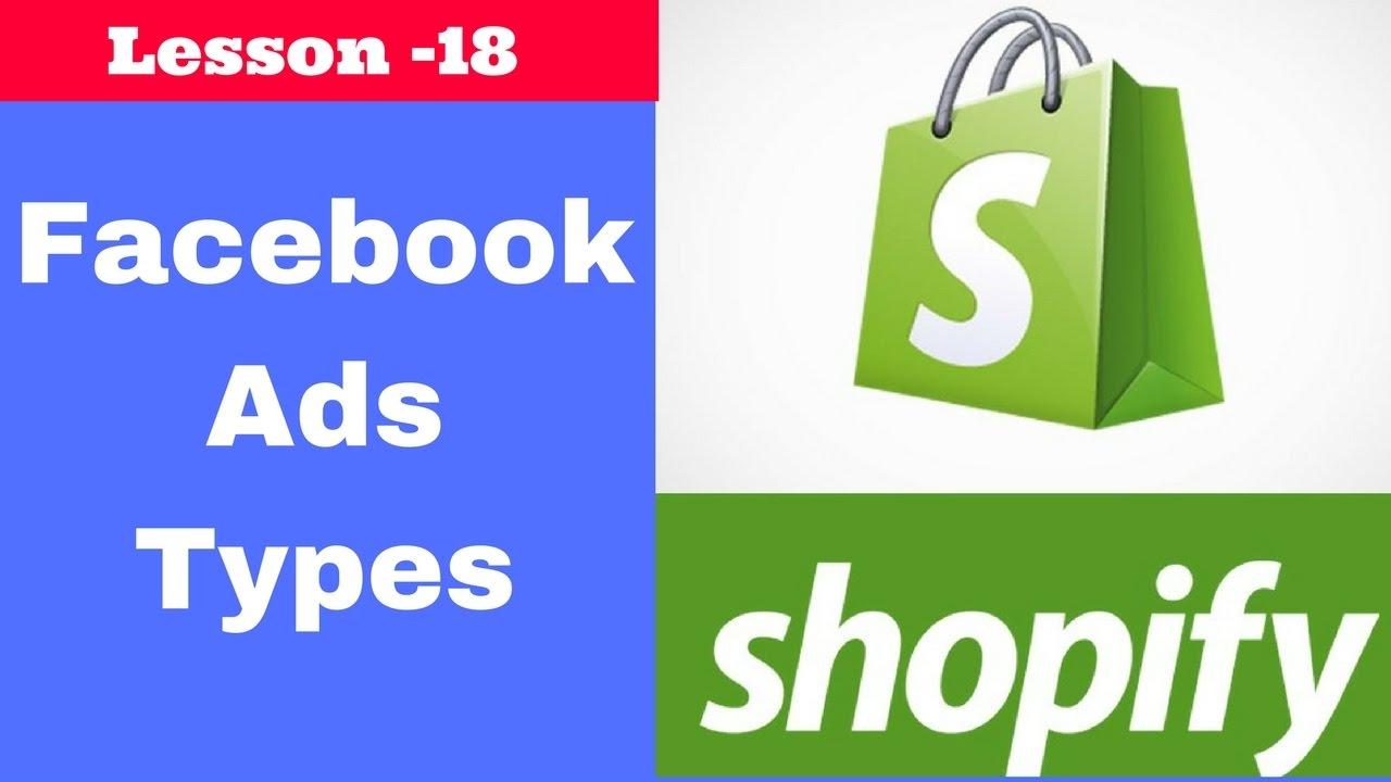Facebook ads types in hindi - Urdu | shopify tutorials | lesson 18
