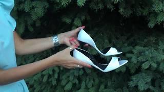 Босоножки из натуральной кожи белого цвета на каблуке-шпилька, С-704 ТМ Джино Фиджини