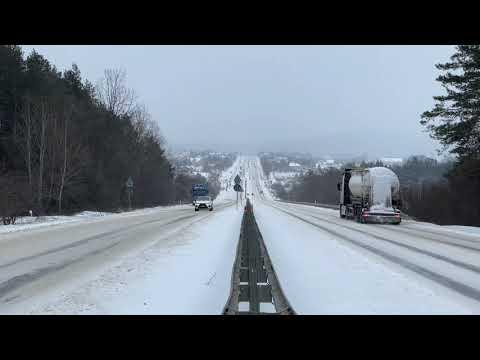 Zima. Trudne Warunki Na świętokrzyskich Drogach (08.02.2021)